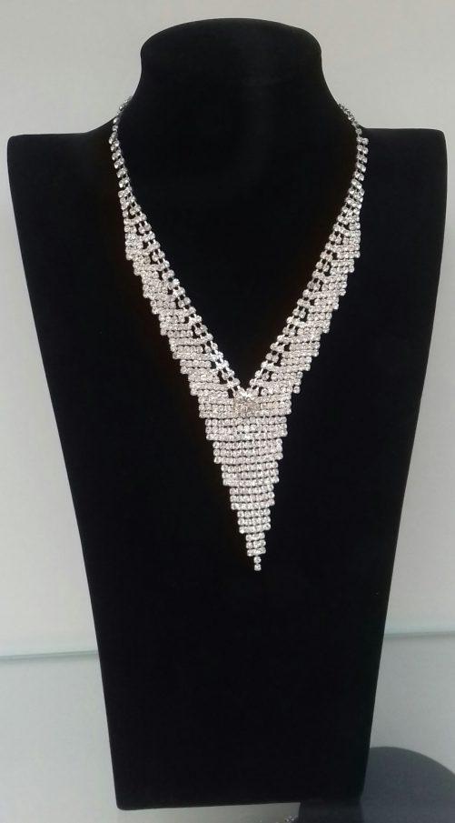 Faux Diamond Chandelier Shaped Necklace