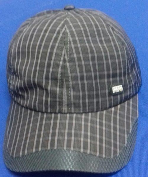 Baseball striped cap 100% polyester black