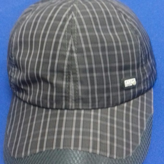 Baseball striped cap 100% polyester black