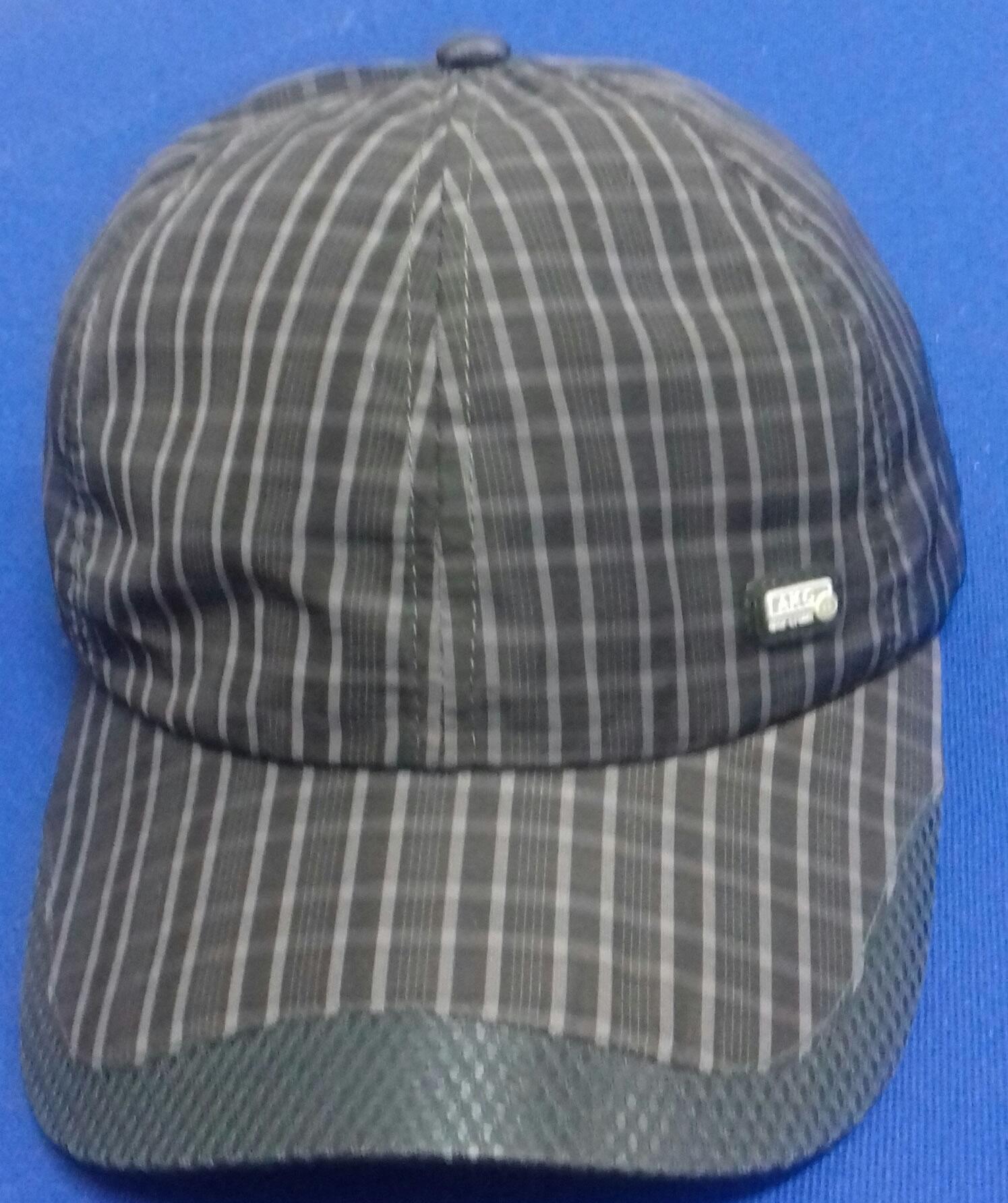 6c1647045612d Baseball striped cap 100% polyester black