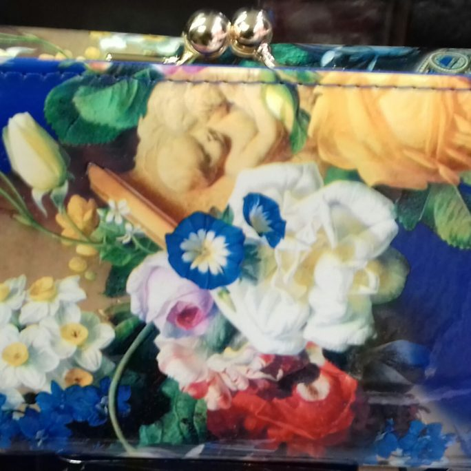 Colourful purse clutch
