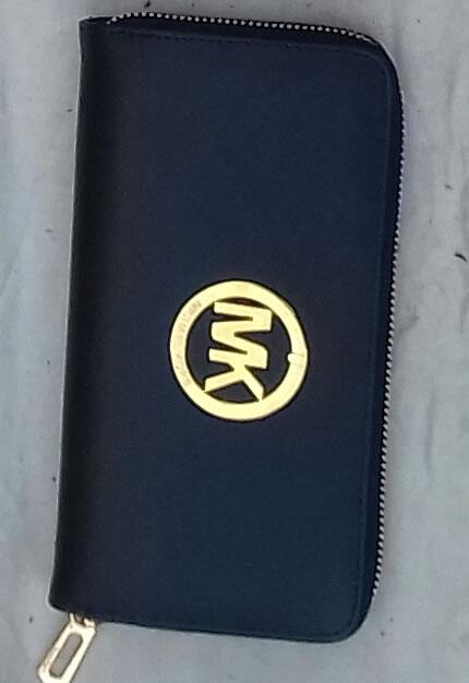 Michael Kors navy-blue wallet central zip
