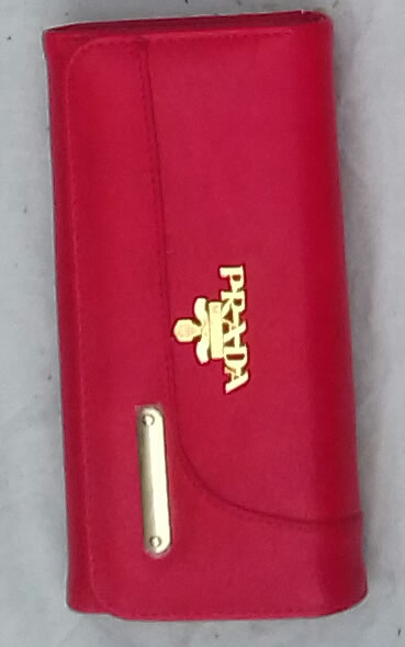 Prada clutch gold plated right clasp