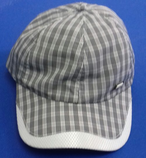 Striped baseball cap 100% polyester light-black
