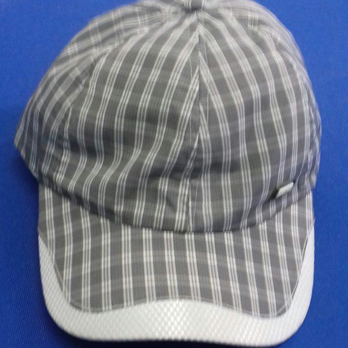 Striped baseball cap 100% polyester light-black